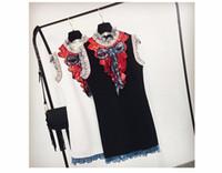 neues jahr minikleid großhandel-Silvester kurzes kleid frauen marke designer schwarz weiß spitze kleider 2018 winter elegante luxus bogen pailletten mini dress