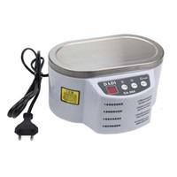 ultraschall-badreiniger großhandel-Ultraschallreiniger 600ml Intelligent Control 30W / 50W Digitales Mini-Ultraschallreinigungsbad für die Reinigung von Schmuckgläsern + NB
