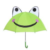 Wholesale Cartoon Kids Umbrellas - Lovely Cartoon Ear Umbrella Creative Long Handle Umbrellas 3D Modeling Rainy Bumbershoot For Kids Gifts wen5793