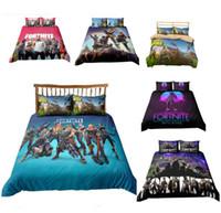 Wholesale 3d piece bedding sets online - 3D Printed Bedding Game Fortnite kids room Bedding Sets Fortnite Battle Royale Cartoon duvet Cover Set pillowcase quilt cover bed suit