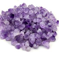 pedras de lavanda venda por atacado-8-25mm 100 g / lote Natural Ametista Dente de Pedra Contas Irregular Loose Lavanda Ametista Raw Stone Beads Espécimes Minerais