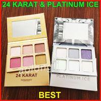 Wholesale full highlights - 2018 Highlighting Cosmetics 24 Karat Platinum Ice Eye shadow Stars Skin Frost Pro Highlighter Contour Eyeshadow 6 shades Bronzer Kit
