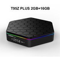 Wholesale tv box android octa resale online - 10PCS Original T95Z PLUS G G Android TV BOX Amlogic S912 Octa Core G G WiFi Bluetooth Media Player