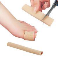 ayak ayak tüpü toptan satış-Ayak Parmak Düzeltici Tabanlık Kumaş Jel Silikon Tüp Bunyon Toes Parmaklar Ayırıcı Bölücü Koruyucu Mısır Nasır