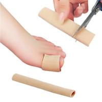 separador de maiz al por mayor-Pies Plantillas correctoras de dedos Gel de tela Tubo de silicona Juanete Dedos Dedos Separador Divisor Protector Callos