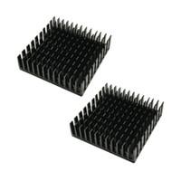 Wholesale Led Diy Heatsink - NOYOKERE PRO 40mm*40mm*11mm DIY Cooler Aluminum Heatsink Cooling Fin Heat Sink for LED Power Memory Chip IC Black Color