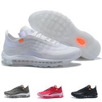 huge discount aabb9 93fc7 OFF 97 Hommes Femmes Chaussures de Course 97s Triple Blanc Noir Cool Gris  Designer Trainers Sport Sneaker Taille 36-46 Avec Box Discount Vente En  Ligne
