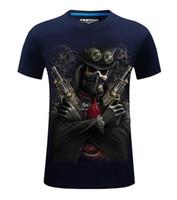 büyük boy erkek gömlekleri toptan satış-3D T Gömlek Sıcak 2017 Yeni 3d Baskılı Serin korsan yeezus T Gömlek Mens-6XL KANYE WEST Pamuk T-Shirt uzun boylu ve büyük erkekler için Ücretsiz kargo