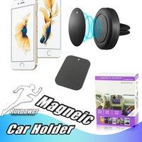 telefon auto magnethalter großhandel-Universal Handyhalterung Auto Mount Air Vent Magnet Ein Schritt Montage Magnetisch sicherer Fahren für iPhone X XS 8 Plus Samsung Galaxy Note9
