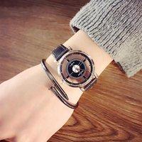 relojes de pulsera unisex al por mayor-LinTimes Reloj de cuarzo ahuecado y unisex con un estilo único Dial de estilo Reloj de pulsera de cuero