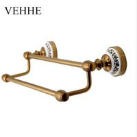 Wholesale copper towel rack for sale - Group buy VEHHE European style vintage Copper plating bath towel holder bathroom fixture bars towel racks towel bars accessories VE040