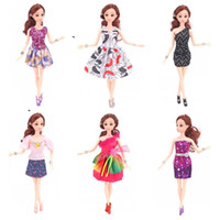 Wholesale doll clothes for barbies - Barbie Doll Fashion Short Skirt Exquisite Dolls Apparel Dress Clothes Suit Fit For 28 To 30 CM Barbies 1 85jg WW