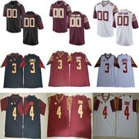 Wholesale Fsu Jersey - Mens NCAA ACC FSU Derwin James College Football Jerseys #2 Deion Sanders 12 Deondre Francois Florida State Seminoles Jersey S-3XL