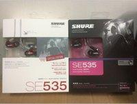 ohr kopfhörer kleinpaket großhandel-Shure SE535 SE215 In-Ear-HIFI-Kopfhörer mit Noise Cancelling-Kopfhörer Freisprechkopfhörer mit Kleinpaket