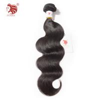 Hot selling FYNHA Brazilian Virgin Hair Body Wave 100% Human Hair Bundles 8-30 inch Natural Color Free Shipping