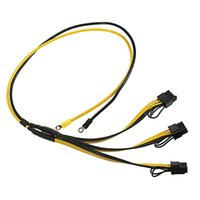 e cpu großhandel-70CM PCI Express-Grafikkarten-Verbindungsstück PC-Stromversorgungs-Kabel CPU Molex 8pin 3 PCI-e 8 (6 + 2) Stift interner Kabel-Teiler 12AWG + 18AWG 50PCS / L