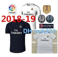 Wholesale Champions League Shirt - New 18 19 Real madrid Soccer Jersey Ronaldo Modric Kroos Sergio Ramos Bale 2018 2019 ASENSIO ISCO football Shirt Champions League uniform
