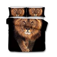 Kaufen Sie Im Großhandel König Größe Löwen Bettbezug 2019 Zum