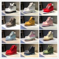 Wholesale mens low ankle shoes online - 2018 High Quality Classic Wheat Navy Camouflage Designer Boots Ankle Bottes d hiver Women Mens Cheap Outdoor Work Winter Shoes