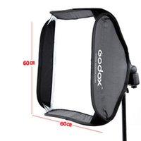 klammer blinkt großhandel-Professionelle Godox Ajustable Flash Softbox 60 cm * 60 cm für Flash Speedlite Studio Shooting ohne S-typ Bracket