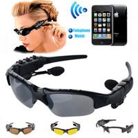 qualitäts-sonnenbrille porzellan großhandel-1 Stück Top-Qualität Stereo Bluetooth Brille Wireless Headset Objektiv Earp-hones Bluetooth-Brille Großhandel MP3-Riding Sonnenbrille China Sport