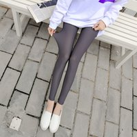 b9eda9d5b1a58f ... Ice silk Plaid Thin Slim Elasticity Pant Legging Casual Solid Women's  Plus Size Leggins Clothings. 34% Off