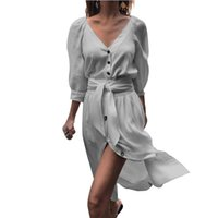298b3fc7cf5 Wholesale women splits side short mini dress online - Elengant Dresses Women  Half Sleeves V Neck