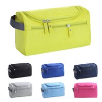 Wholesale nylon travel hanging wash bag resale online - Waterproof Men Hanging Makeup Nylon Travel Organizer Cosmetic Bag Wash Toiletry Case BS88 Colors Black Blue Gray Green Navy