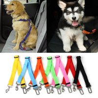 Wholesale dog collars clips resale online - 1Pcs Adjustable Pet Cat Dog Car Safety Belt Collars Pet Restraint Lead Leash Travel Clip Car Safety Harness For Most Vehicle