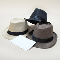 ac637fd4eba Soft Fedora Panama Belt Hats Durable Snapbacks Men Women Jazz Cap For  Outdoor Beach Stingy Brim Hat New 5 5kp B