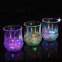 Wholesale cast glass lights resale online - LED pineapple cup Glass Cup Automatic Flashing glasses Sensor Light Up Mug Wine Beer Glass Whisky oz