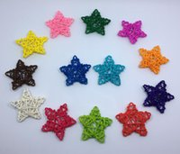 Wholesale family christmas ornament for sale - Group buy 6 cm Rattan Star Christmas DIY Decoration Ornaments Rattan Ball Sepak Takraw Gift Birthday Party Family Party Decoration