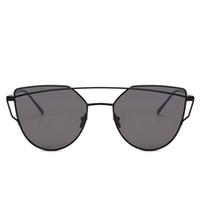2018 Nova marca Designer de olho de gato Hipster Sunglass Unisex armação de  metal Flat duplo ponte 5232 moda Slim UV400 lentes de óculos de sol roxo 988f0fe5e5