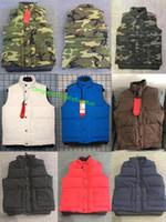 nuevas telas de invierno al por mayor-2018 nuevo para hombre estilo libre real pluma abajo invierno moda chaleco bodywarmer avanzado impermeable tela FIRE FRHINOCEROS