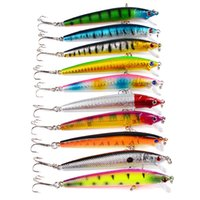 Wholesale minnow crank lures for sale - Group buy Lifelike Plastic Hard Bait Artificial D Simulation Coating Fishing Lures Pencil Popper Minnow Crank Rattlin Professional Lure sb UU