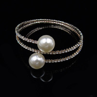 Wholesale fashion brand channel for sale - Crystal Mosaic bracelet brand fashion Imitation pearl ethnic Bracelet punk boho circular beads bracelets bangle women Jewelry