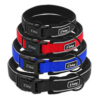 Wholesale black xl dog collar for sale - Group buy Padded Adjustable Comfort Thick Padded Nylon Dog Collar Reflective For Small Medium Large Breeds Blue Red Black S M L Xl