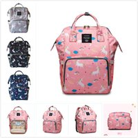 Wholesale Moms Cartoons - 4 Styles Unicorn Mommy Backpacks Baby Nappies Bags Unicorn Travel Bags Mom Backpack Maternity Large Capacity Outdoor Bags
