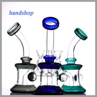 Wholesale special design bong for sale - Group buy New glass bong special shining ball designed dab rigs high quality glass water pipe with bowl small bubbler