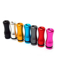 pyrex protank mum toptan satış-Renkli buhar Alüminyum Damla İpuçları e çiğ 510 EGO Elektronik sigara için Metal alaşım Damla İpuçları Ağızlık EGO Atomizer