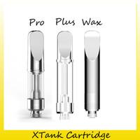 ingrosso vetro di pyrex per serbatoio pro-Autentico VapMod XTank Pro Plus cartuccia di cera 0.5ml 1.2ml Pyrex Glass Ceramic Coil Vaporizzatore Atomizzatore 510 Thread Thick Oil X Tank