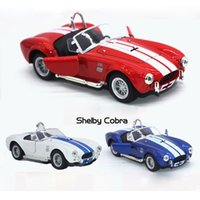 Wholesale shelby cars for sale - Group buy 1 Scale Ford Shelby Cobra S C Supercar Diecast Metal Pull Back Car Model Toy