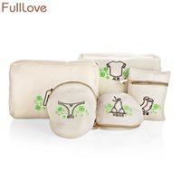 Wholesale bra underwear travel bag resale online - 2018 New Embroidery Travel Bags Zipper Mesh Double Protection Laundry Wash Bag Pants Bra Tops Underwear Socks Storage Organizer