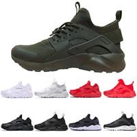 en iyi iv toptan satış-Nike Air Huarache Sıcak satış Huarache IV Erkekler Için Koşu Ayakkabıları Siyah Beyaz en Kaliteli Sneakers Üçlü Huaraches Koşu Spor tasarımcısı Ayakkabı eğitmen Eur 36-45