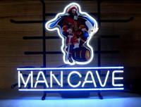 luz de barra de neón capitán morgan al por mayor-SIGNO DE NEÓN para CAPTAIN MORGAN MAN CAVE RUM PIRATE Letrero REAL GLASS BEER BAR PUB display christmas Light Signs 17 * 14