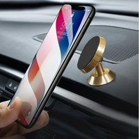 Wholesale dashboard car mount holder for iphone online – Aluminium Magnetic Car Holder Stand Dashboard Car Mount Rotation Strong Magnetic Phone Holder For Samsung Note iPhone X