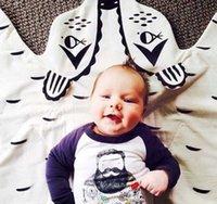 muster baby bettwäsche großhandel-Gestrickte Runde Karte Muster Babydecke Spielmatte Kind Krabbeln Teppich Baby Bettwäsche Kinderwagen Decke beste Kinderzimmer decration