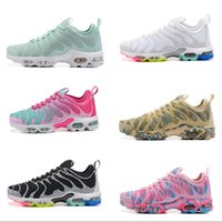 Wholesale ms top - 2018 womens Sneakers Top TN Plus Perfect design Lightweight Ms girls Boots Pink white interweave Lady Running Shoes