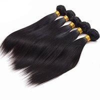 Wholesale 6a straight virgin human hair resale online - Remy Brazilian Virgin Straight Hair Extensions quot Brazilian Human Hair Weave a Unprocessed Double Weft Hair