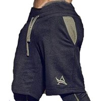 Wholesale workout clothes for men - Gyms Shorts For Male Summer Beach Shorts Fitness Joggers Sweatpants Quick Dry Crossfit Men Short Underpants Workout Clothing